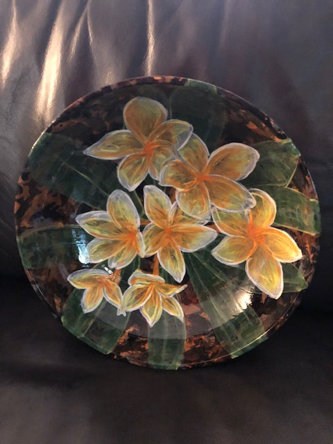 Bowl #7 Plumeria by Colleen Justin